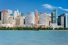 Vue grande de New York de fleuve de Hudson Photographie stock libre de droits