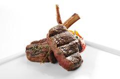 Vue grillée de plan rapproché de viande Image stock