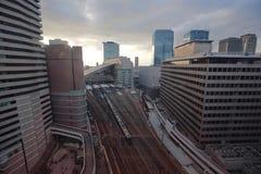 Vue guidée d'Osaka de roue de ferris du hev cinq Photo stock