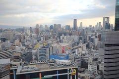 Vue guidée d'Osaka de roue de ferris du hev cinq Images libres de droits