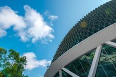 Vue haute étroite d'esplanade de bâtiment images stock