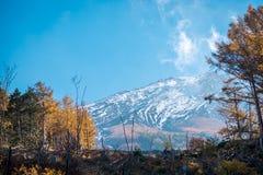 Vue haute étroite de montagne de Fuji photographie stock libre de droits