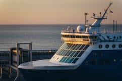 Vue haute étroite de timonerie de ferry image stock