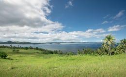 Vue herbeuse d'île Photo stock