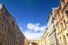 Vue historique de St Petersburg Photo stock