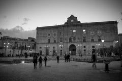 Vue horizontale d'Annunziata Palace en Vittorio Veneto Squa photographie stock libre de droits
