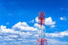 Vue horizontale de station d'émetteur-récepteur basse de site de cellules Image libre de droits