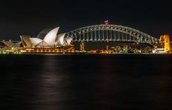 Vue iconique de Sydney, Australie Image stock