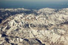 Vue incroyable Crêtes des montagnes Images stock