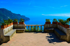 Vue incroyable de la côte renversante d'Amalfi, Italie photo stock