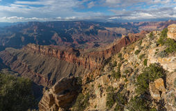 Vue incroyable de la jante du sud de Grand Canyon, Arizona, USA Photo libre de droits