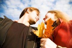 Vue inférieure d'homme et de femme Photo stock