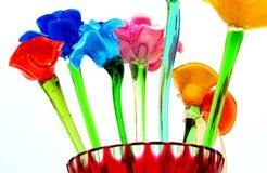 Vue inférieure de fleur en cristal Photo stock