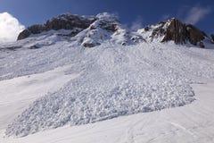 Vue inférieure de petite avalanche. images libres de droits