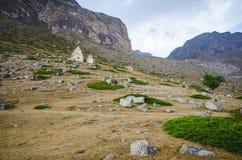 Vue inférieure sur les tombes de l'EL Tyubyu Image libre de droits