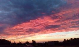 Vue intéressante de cielde coucher du soleil de summerImage stock