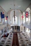 Vue intérieure élevée de vieille église du nord historique Image libre de droits