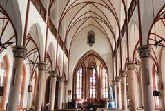Vue intérieure au coeur sacré de Jesus Cathedral à Lomé, Togo photographie stock libre de droits