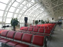 Vue intérieure avec un coin spécial de détails dans l'aéroport de Longjia Photo libre de droits