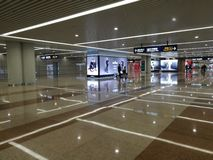 Vue intérieure avec un coin spécial de détails dans l'aéroport de Pudong Photo stock