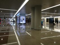 Vue intérieure avec un coin spécial de détails dans l'aéroport de Pudong Photos libres de droits