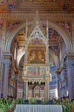 Vue intérieure, cathédrale de Rome Image libre de droits
