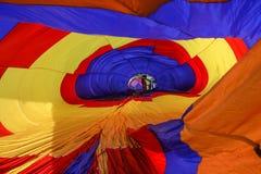 vue intérieure chaude de ballon à air Photo libre de droits