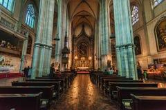 Vue intérieure d'église gothique de Minoritenkirche images stock
