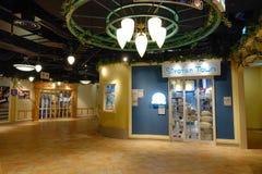 Vue intérieure d'aéroport de Haneda, Japon Photos libres de droits