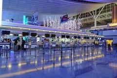 Vue intérieure d'aéroport de Haneda, Japon Photographie stock