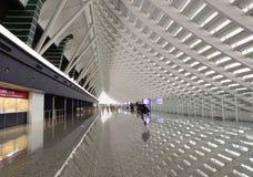 Vue intérieure d'aéroport de Taoyuan à Taïpeh, Taïwan Image libre de droits