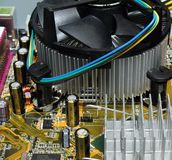 Vue intérieure d'ordinateur neuf Images libres de droits