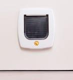 Vue intérieure d'un aileron blanc régulier de chat, chat apparaissant photos stock