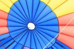 Vue intérieure d'un parachute Image stock