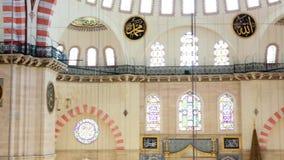 Vue intérieure dans la mosquée de Suleymaniye à Istanbul clips vidéos