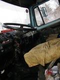 Vue intérieure dans le camion Image libre de droits