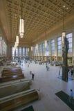 Vue intérieure de 30ème station de rue, un s'inscrire national des endroits historiques, station de train d'AMTRAK à Philadelphie Image stock
