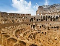 Vue intérieure de Colosseum Images libres de droits