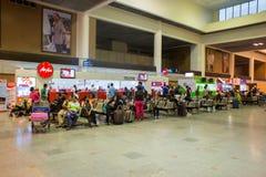 Vue intérieure de Don Mueang International Airport Images libres de droits