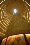 Vue intérieure de Jin Mao Tower à Changhaï Photographie stock libre de droits