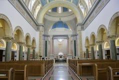 Vue intérieure de l'église d'Immaculata de l'université de San Dieg Photo stock