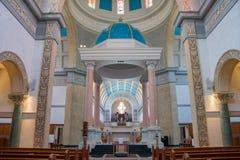 Vue intérieure de l'église d'Immaculata de l'université de San Dieg Photos stock