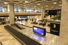 Vue intérieure de l'aéroport à Bakou, Azerbaïdjan Image stock