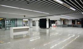 Vue intérieure de l'aéroport dans Kolkata, Inde Images libres de droits