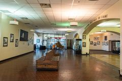 Vue intérieure de l'Oklahoma Jazz Hall de la renommée à Tulsa, BIEN photos libres de droits
