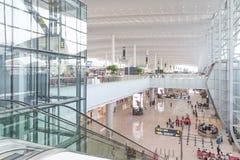 Vue intérieure de terminal de T2 dans l'aéroport de Baiyun Photographie stock libre de droits