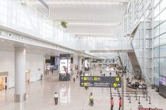 Vue intérieure de terminal de T2 dans l'aéroport de Baiyun Photo stock