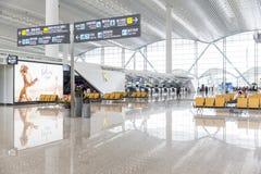 Vue intérieure de terminal de T2 dans l'aéroport de Baiyun Photos libres de droits