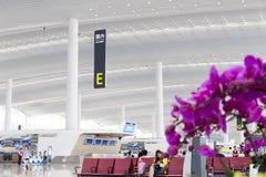 Vue intérieure de terminal de T2 dans l'aéroport de Baiyun Image libre de droits