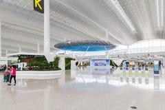 Vue intérieure de terminal de T2 dans l'aéroport de Baiyun Images libres de droits